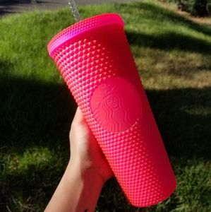 🆕️Starbucks, Custom, Matte Neon Hot Pink Tumbler